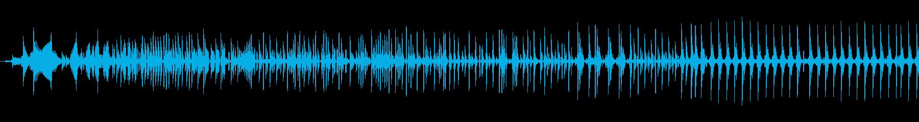 データ通信転送テキストバズの再生済みの波形
