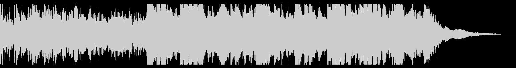 キラキラ繊細なピアノのオープニング30秒の未再生の波形