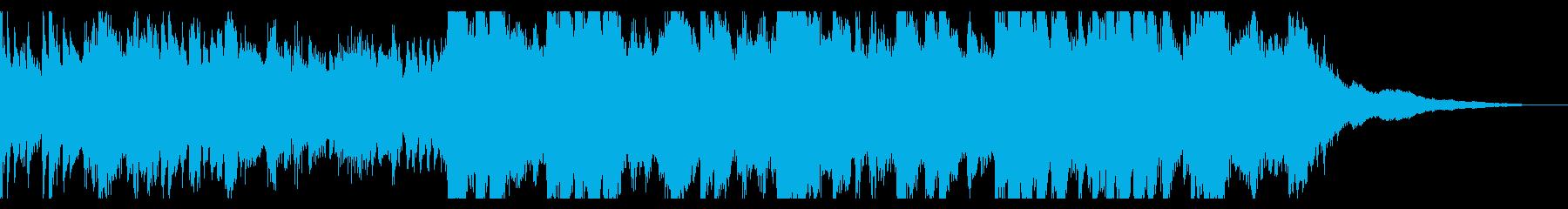 キラキラ繊細なピアノのオープニング30秒の再生済みの波形