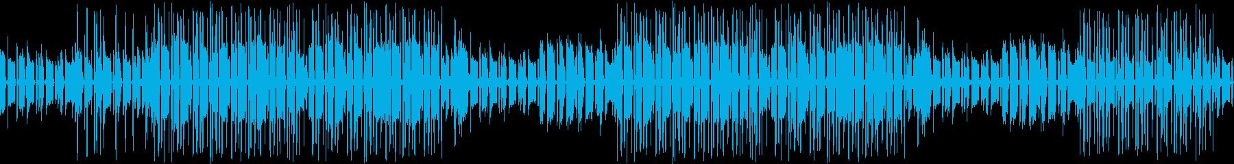 ギター・カフェ・お洒落・ブルース・ループの再生済みの波形
