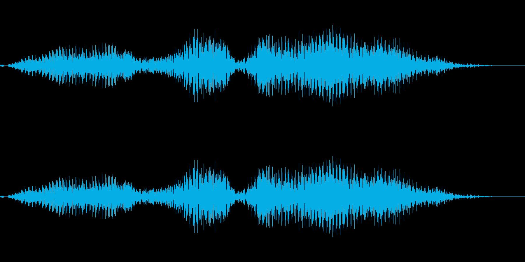 姉御(ヤクザ風)の再生済みの波形