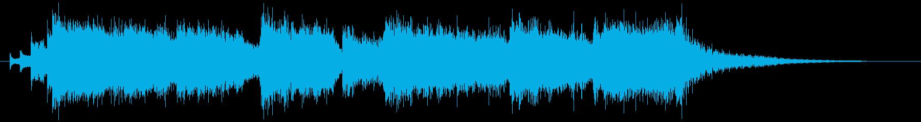 ファンタジー系のファンファーレの再生済みの波形