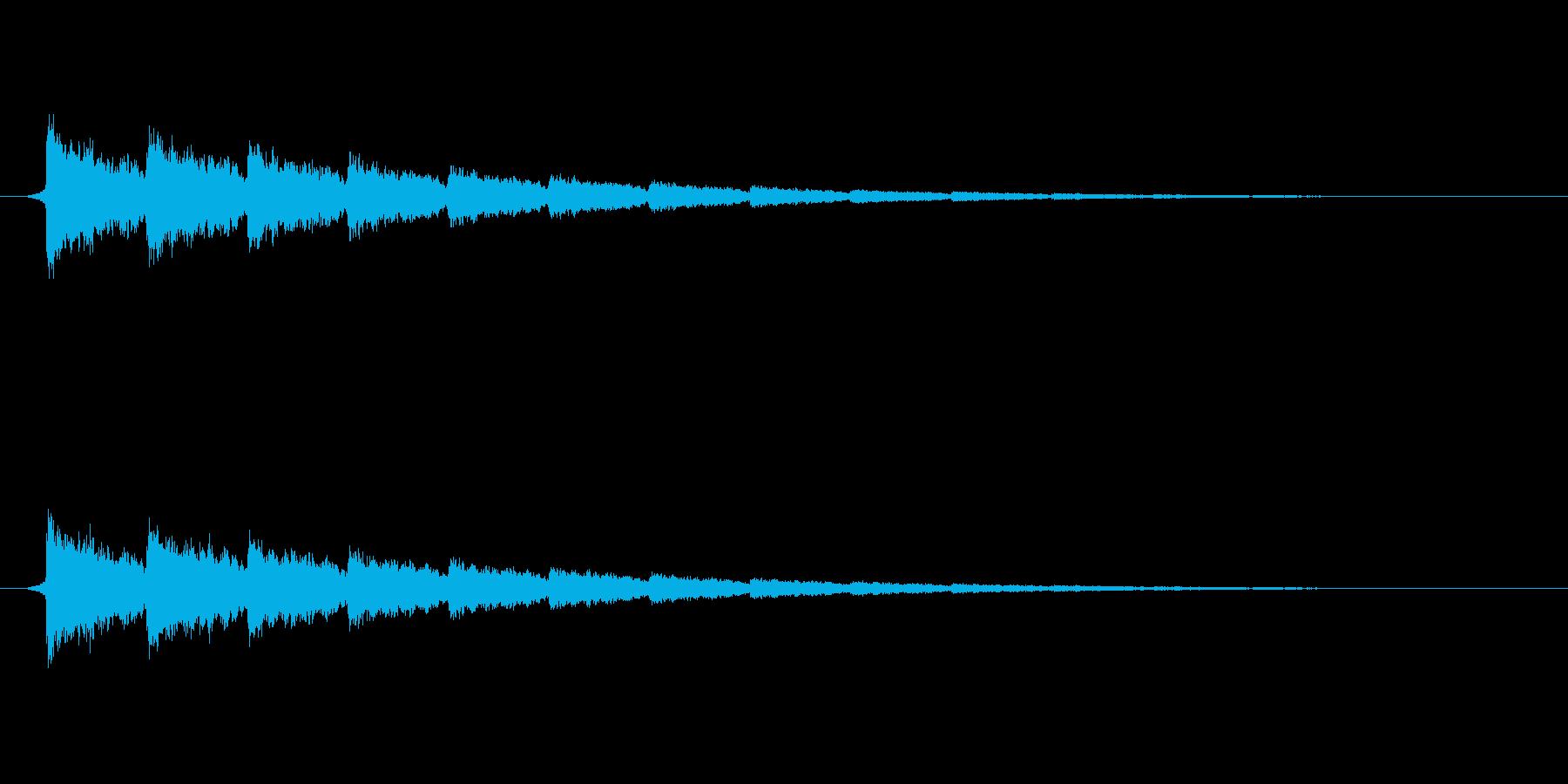 【衝撃07-3】の再生済みの波形