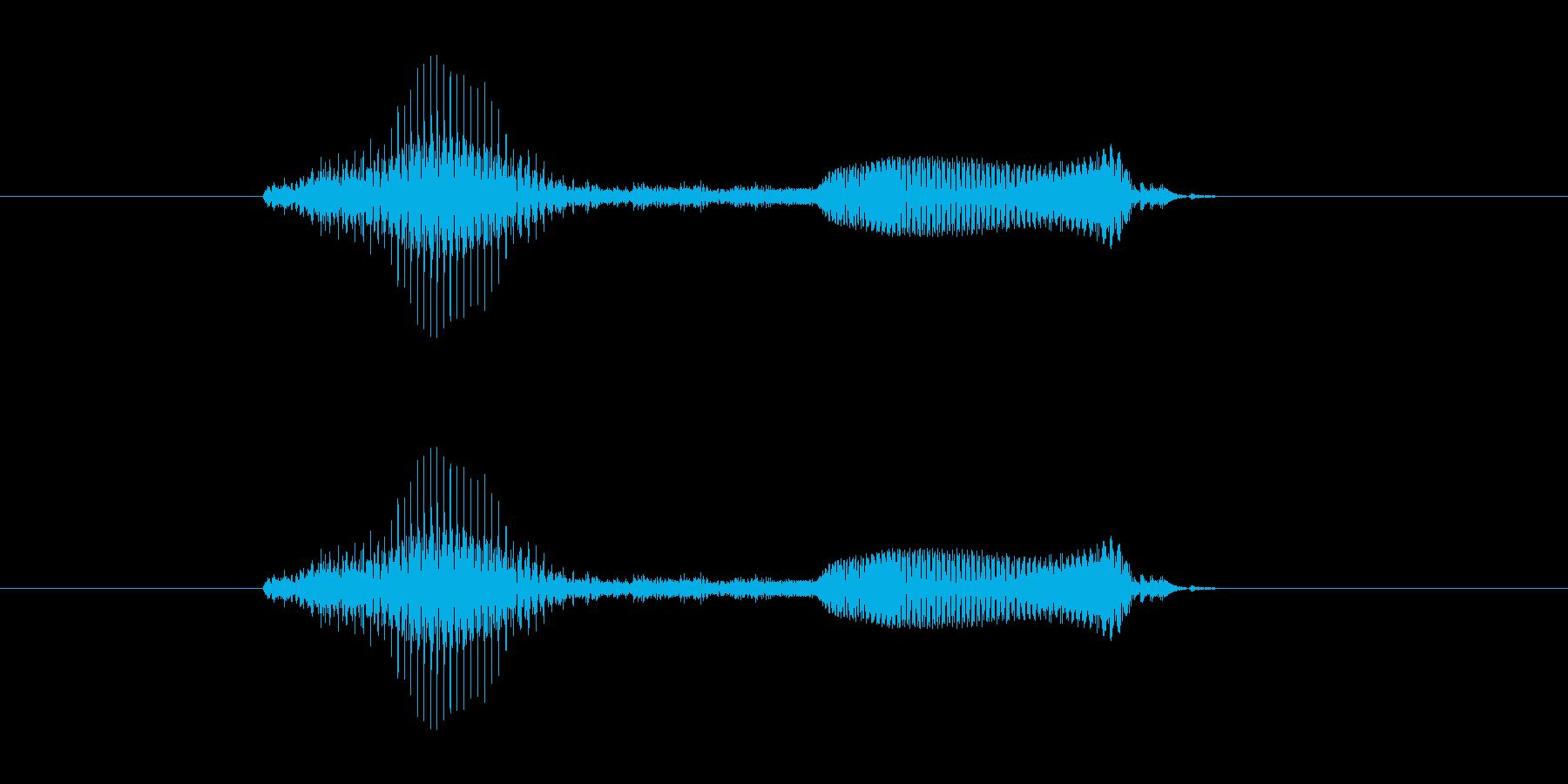 アプリ向け男性ボイス_計算 たす(+)の再生済みの波形