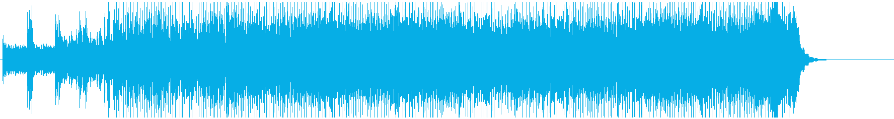 レース向きの疾走感とスリルのあるロックの再生済みの波形