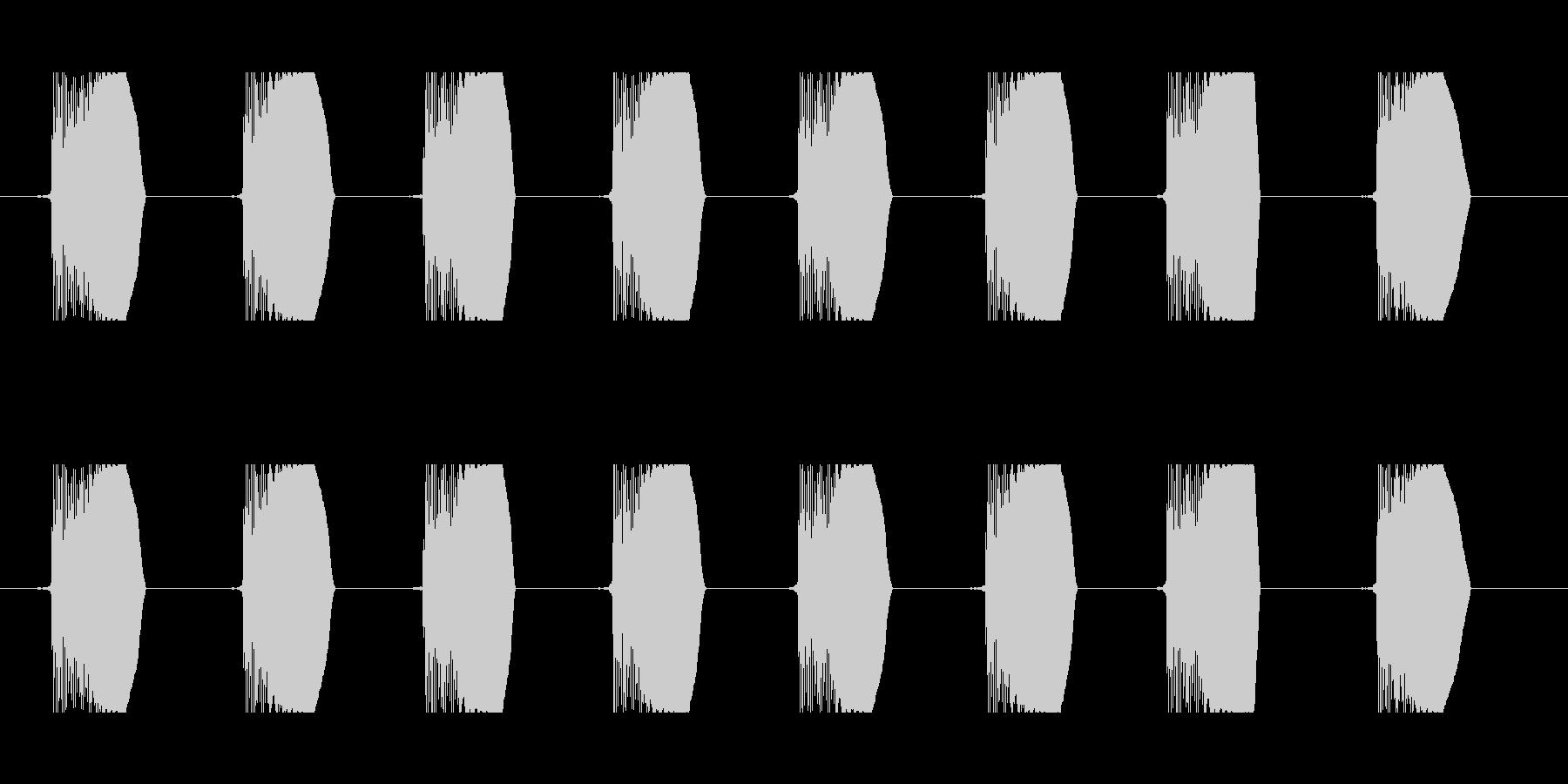 ビーム連射音 90b-2 コミカル 足音の未再生の波形