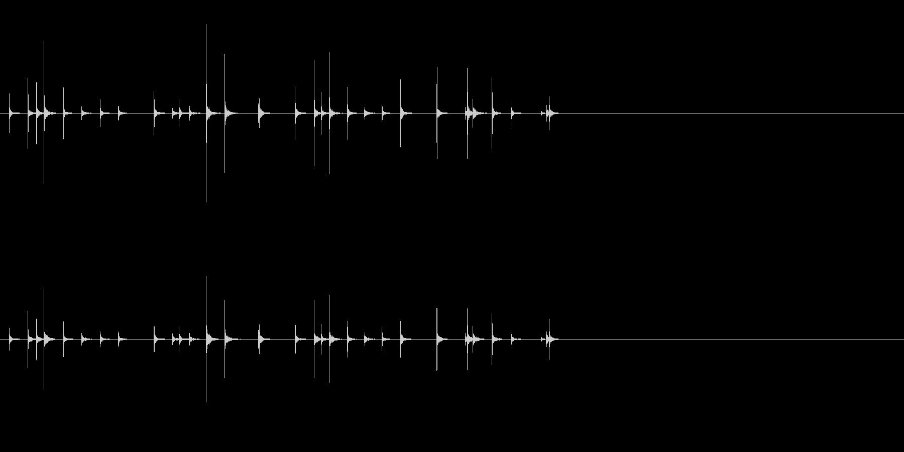 小木魚木章2小木魚木章1歌舞伎黒御簾下座の未再生の波形