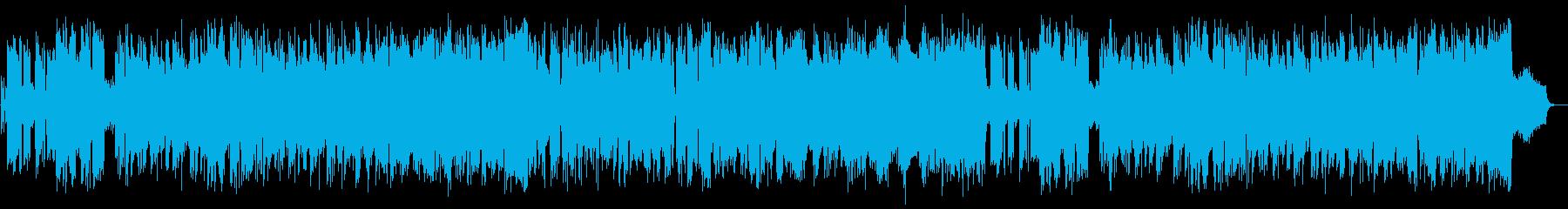 夏をイメージしたフュージョンの再生済みの波形