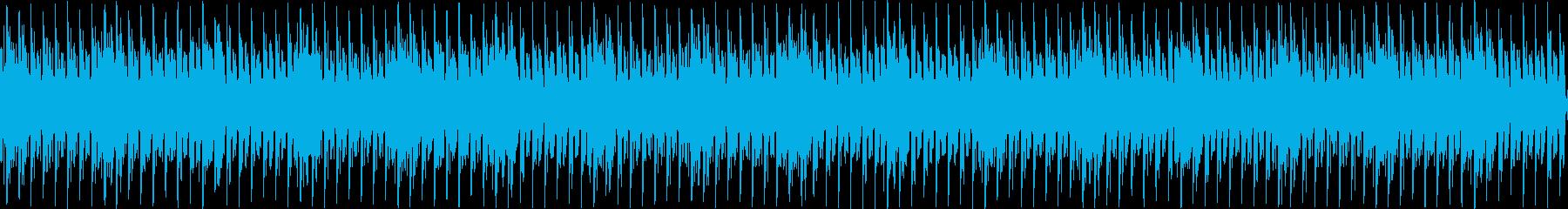 声と音によるテクノの再生済みの波形