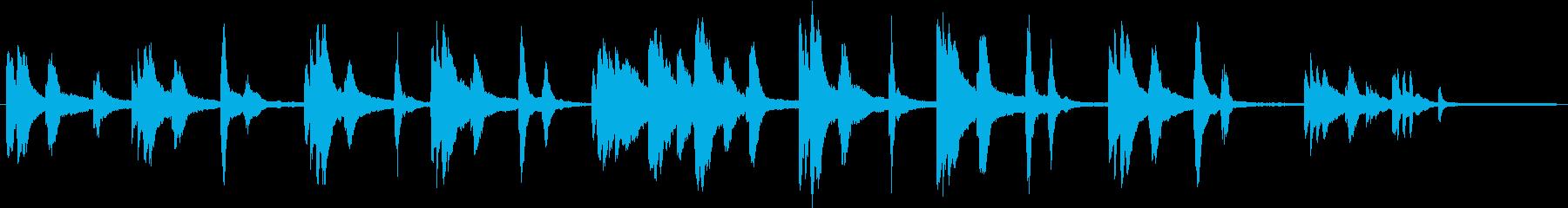 儚げなソロピアノの再生済みの波形
