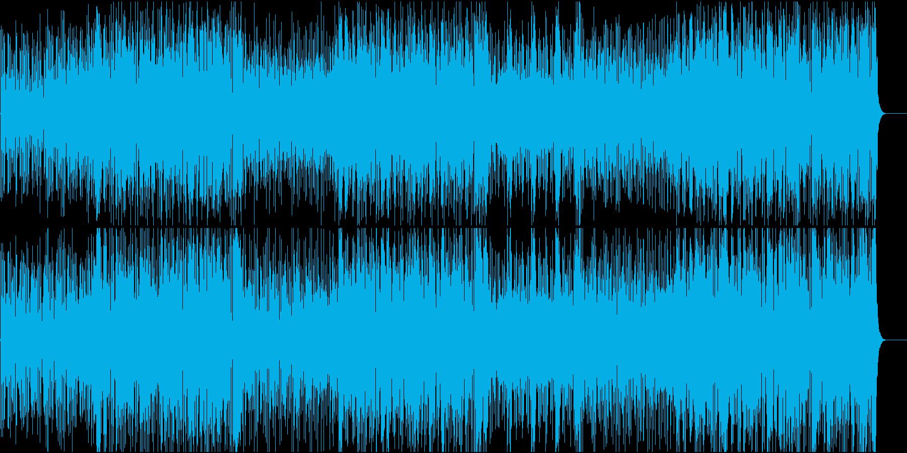 ファンキーな攻防戦を思わせるBGMの再生済みの波形