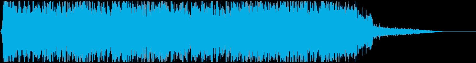 疾走感あふれるヘヴィメタルのジングルの再生済みの波形