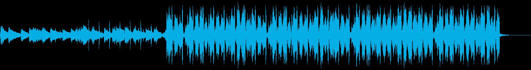 渋くておしゃれなスローな四つ打ちの再生済みの波形