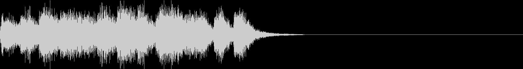 オーケストラによる疾走感があるジングルの未再生の波形