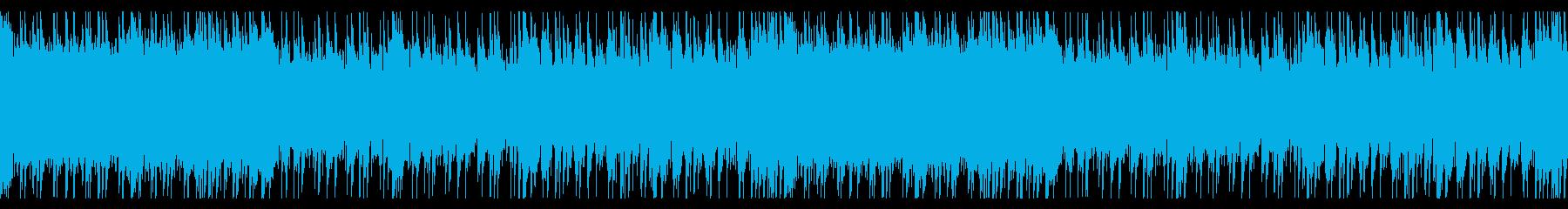 ロックギターのBGMの再生済みの波形