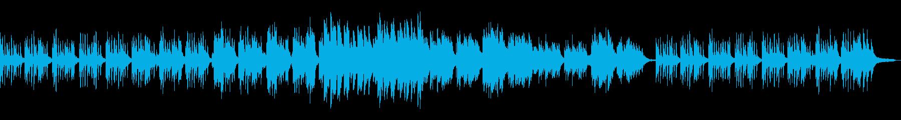 明るい雰囲気のBGMの再生済みの波形