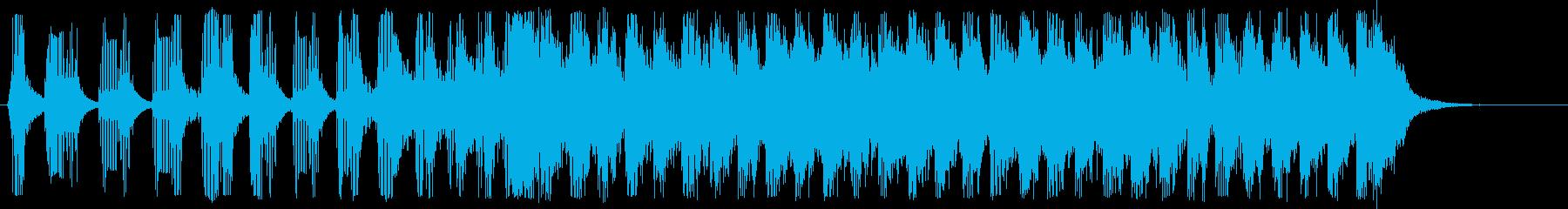 スピード感のシンセサイザー短めの再生済みの波形