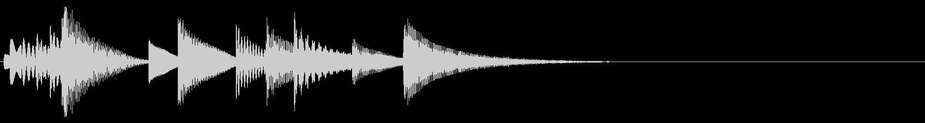 木琴/マリンバのほのぼのかわいいジングルの未再生の波形