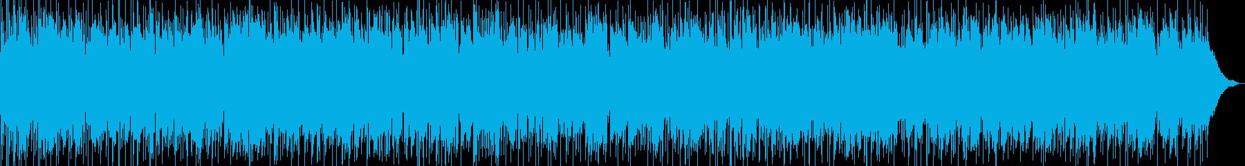 秋の黄昏れの情景をイメージ、クールジャズの再生済みの波形