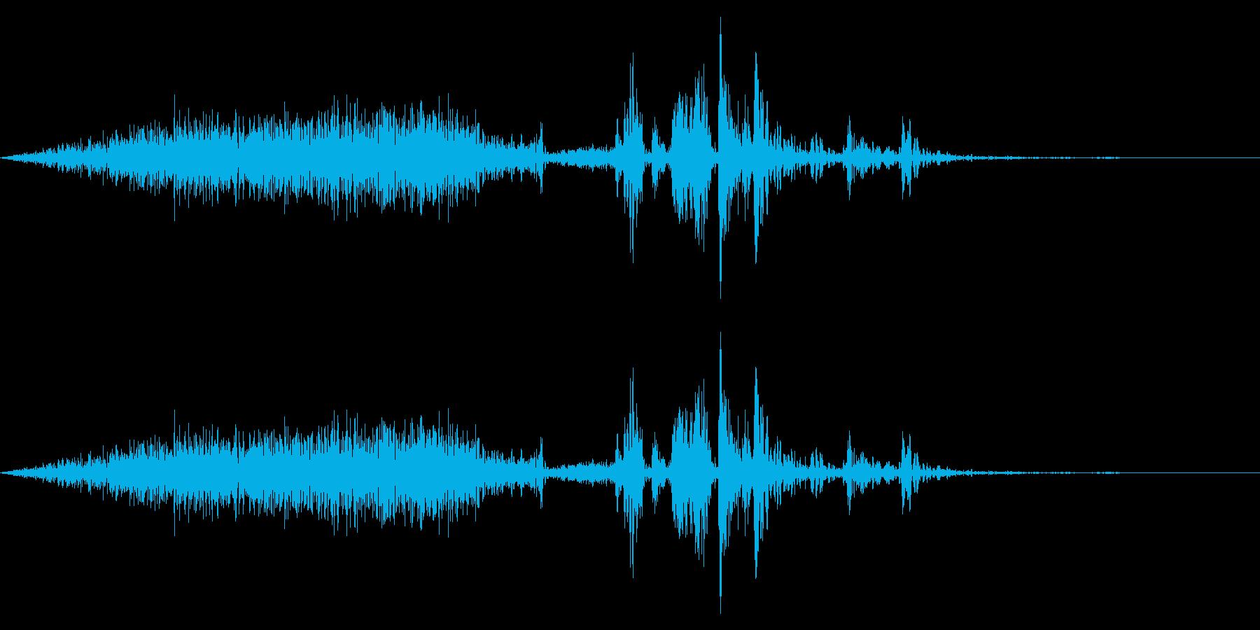 【生録音】本のページをめくる音 10の再生済みの波形