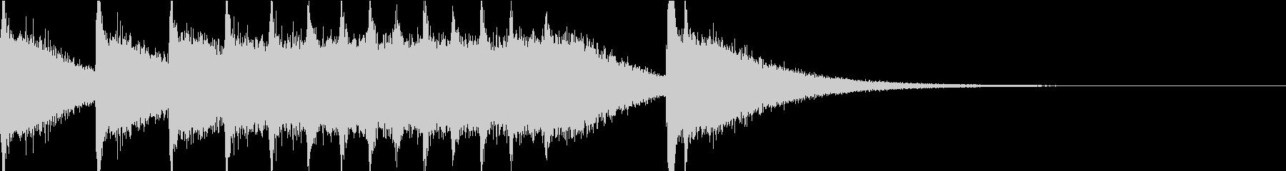 儀式的なシンバルの連打の未再生の波形