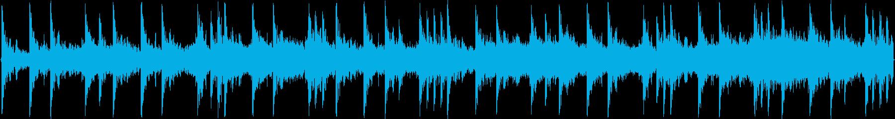ハウスのリズムを強調した楽曲です。の再生済みの波形