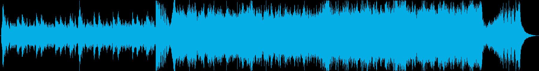 壮大なハリウッド風エピックトレーラーbの再生済みの波形