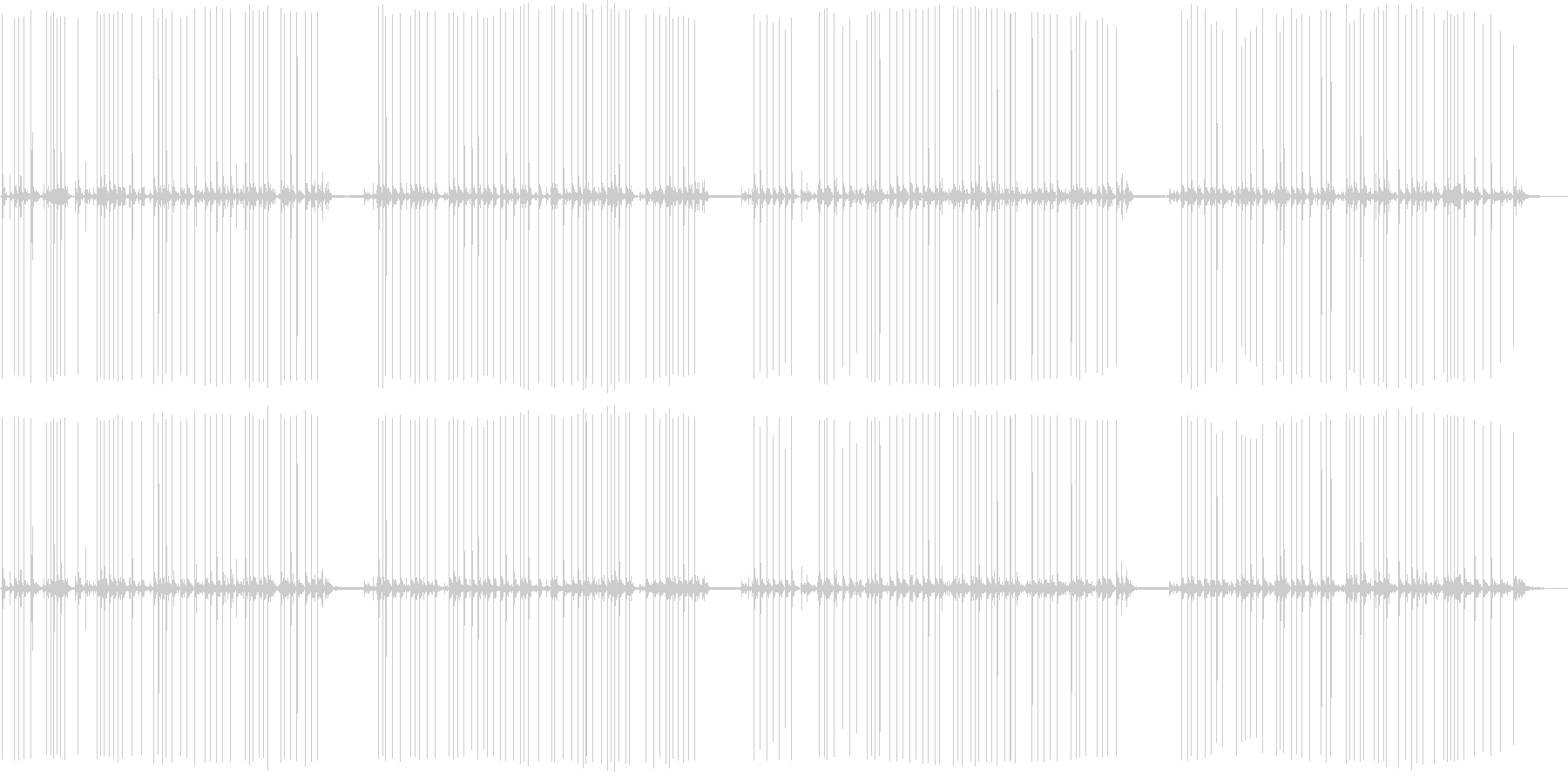 電気タイプライターで入力の未再生の波形