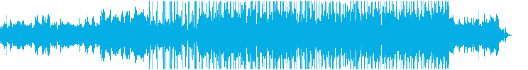 笛と揚琴のテクノの再生済みの波形