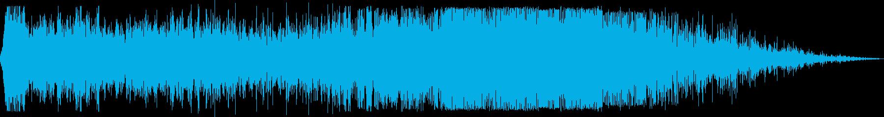 旅客機が滑走路から離陸(滑走路入りから)の再生済みの波形