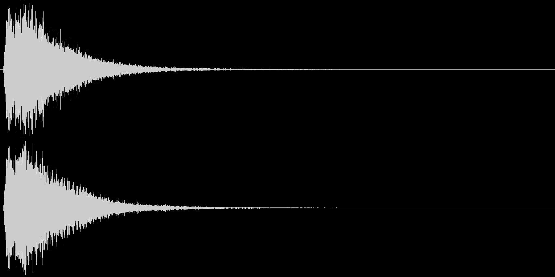 注意を引くインパクトのある音#5の未再生の波形