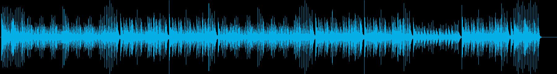 ジングルベル、古い映画風ピアノ の再生済みの波形