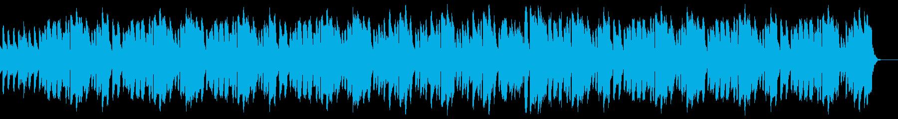 ほのぼのとした明るい雰囲気の楽曲の再生済みの波形