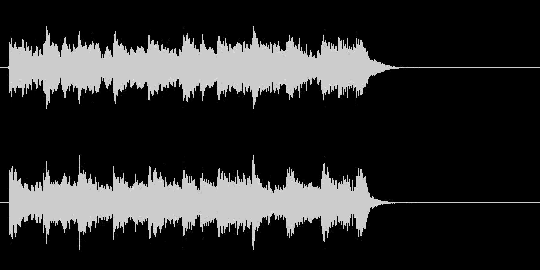 穏やかなセミクラ風ポップ(サビ)の未再生の波形