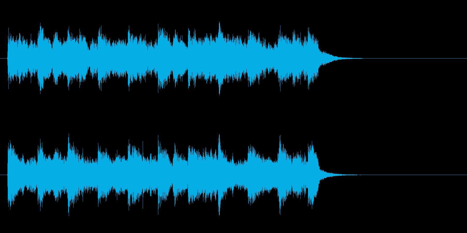 穏やかなセミクラ風ポップ(サビ)の再生済みの波形