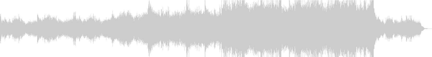 ピアノのシーケンスから盛り上がる曲の未再生の波形