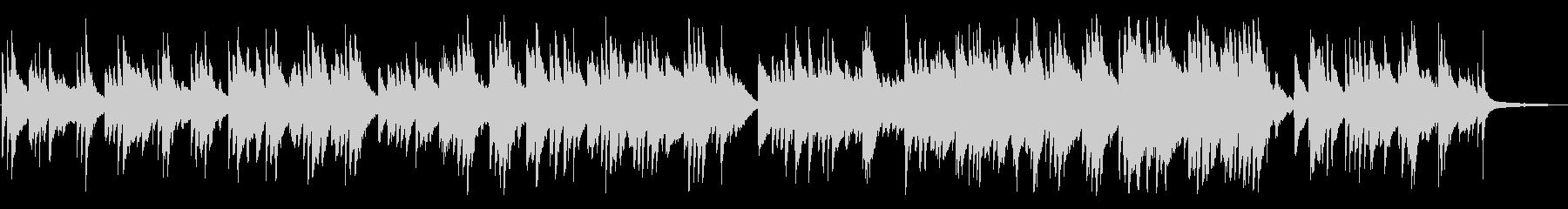 ジブリ的、神秘的なピアノBGMの未再生の波形