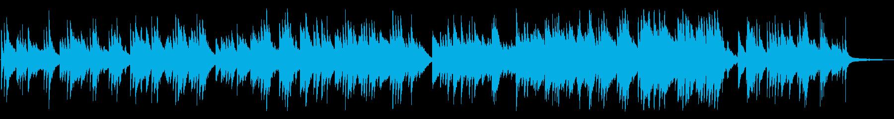 ジブリ的、神秘的なピアノBGMの再生済みの波形