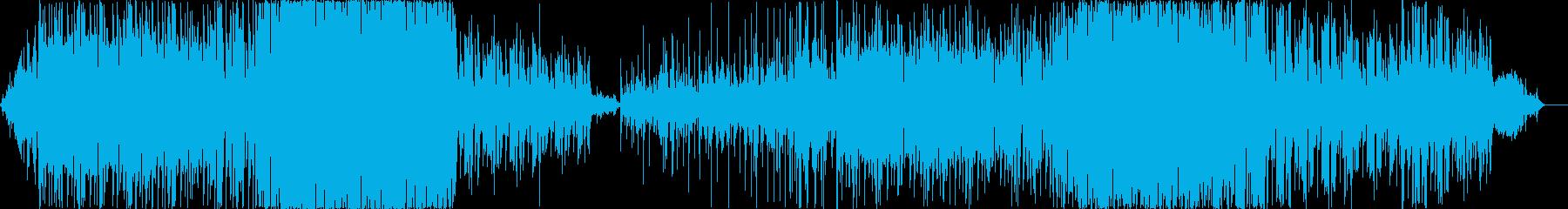 背景をポップします。 Efxとグルーブ。の再生済みの波形