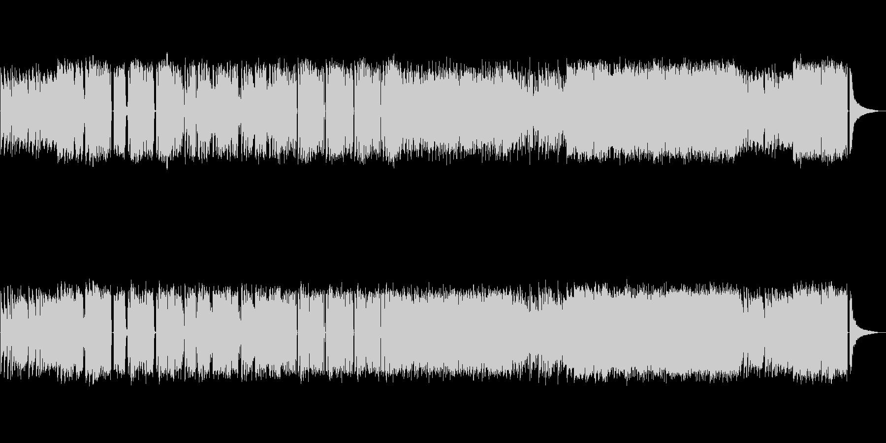 ジャズ寄りのエレクトロミュージックの未再生の波形