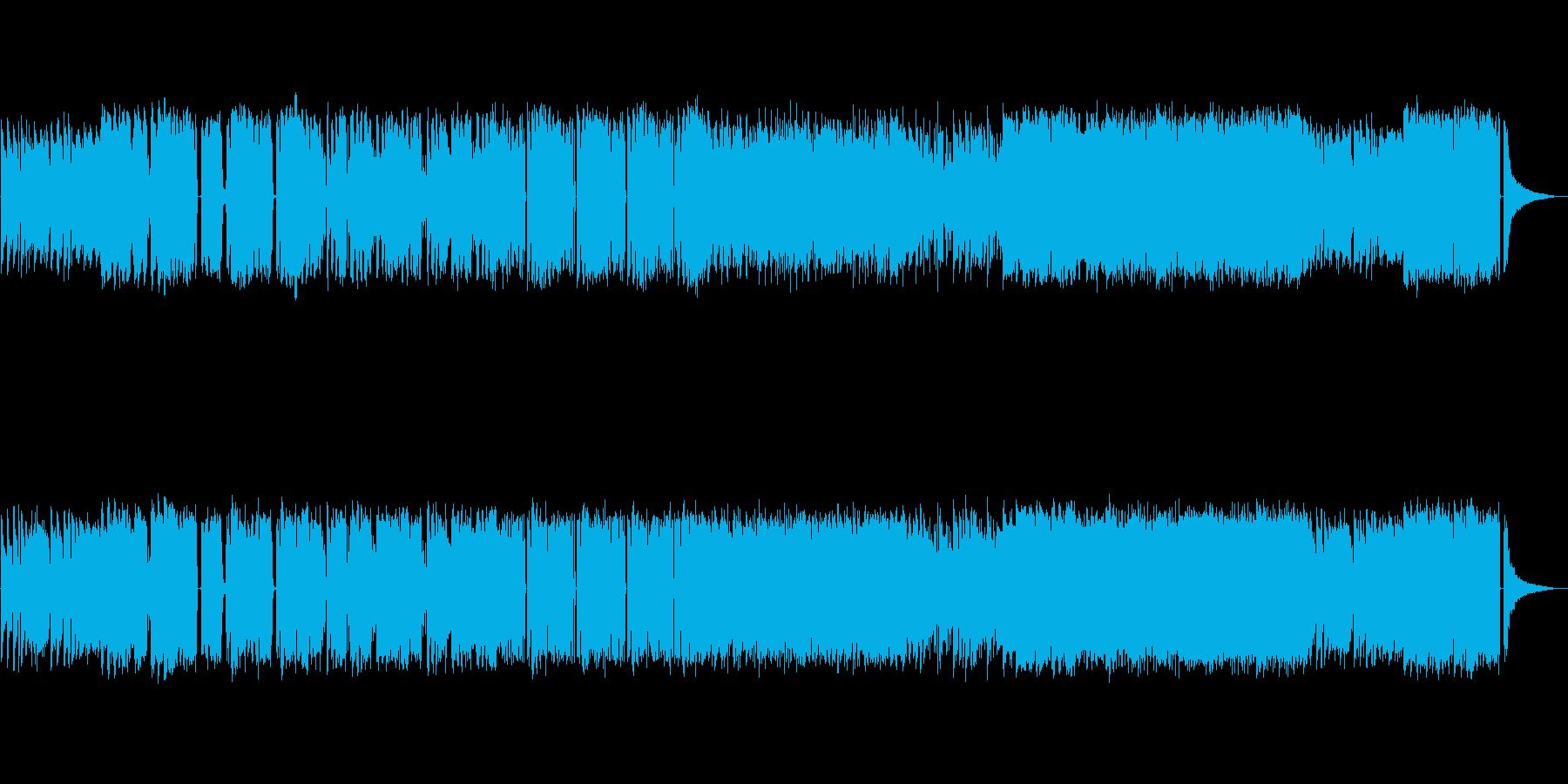ジャズ寄りのエレクトロミュージックの再生済みの波形