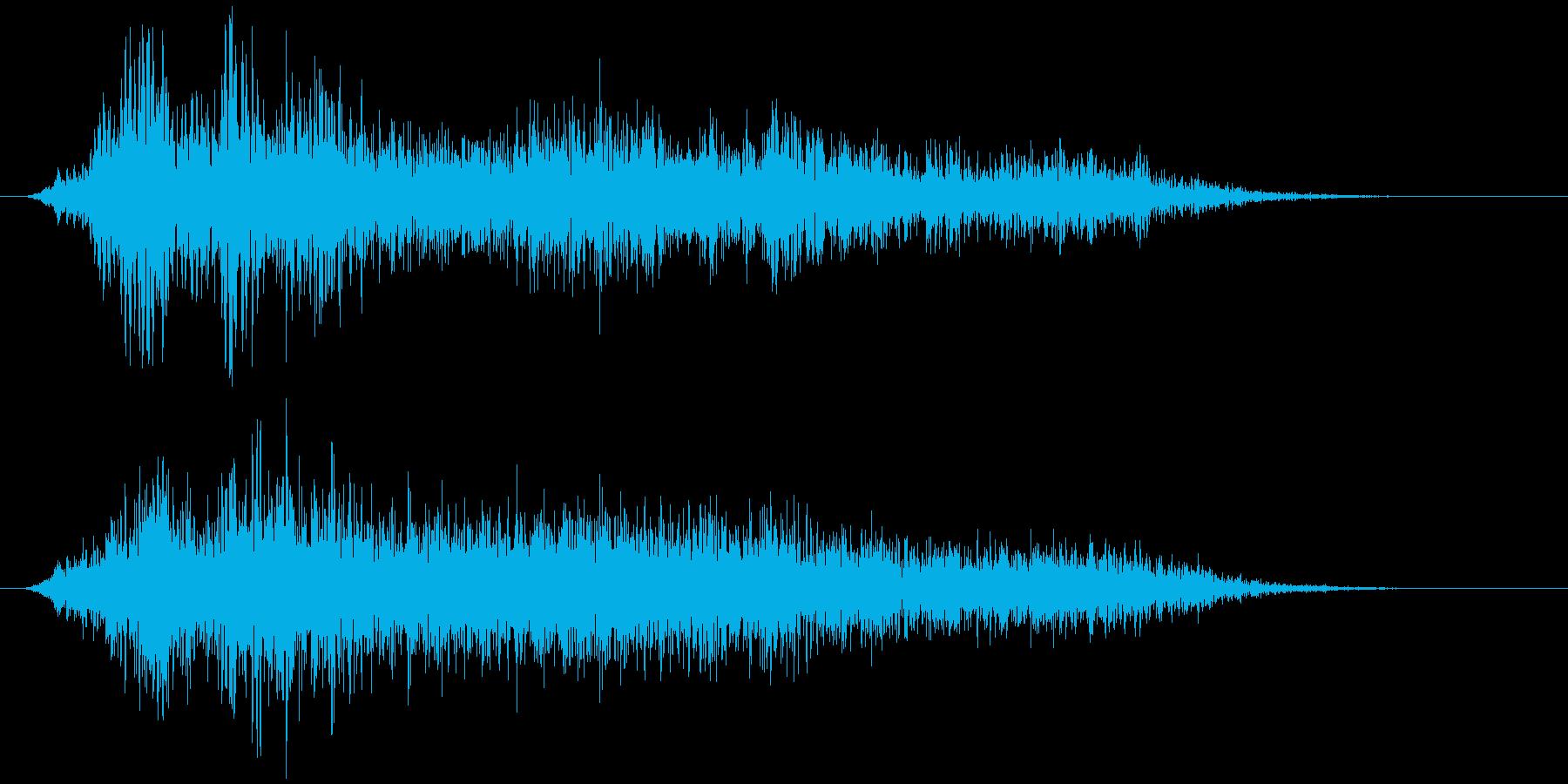 障子を開ける(閉める) ザァーッの再生済みの波形