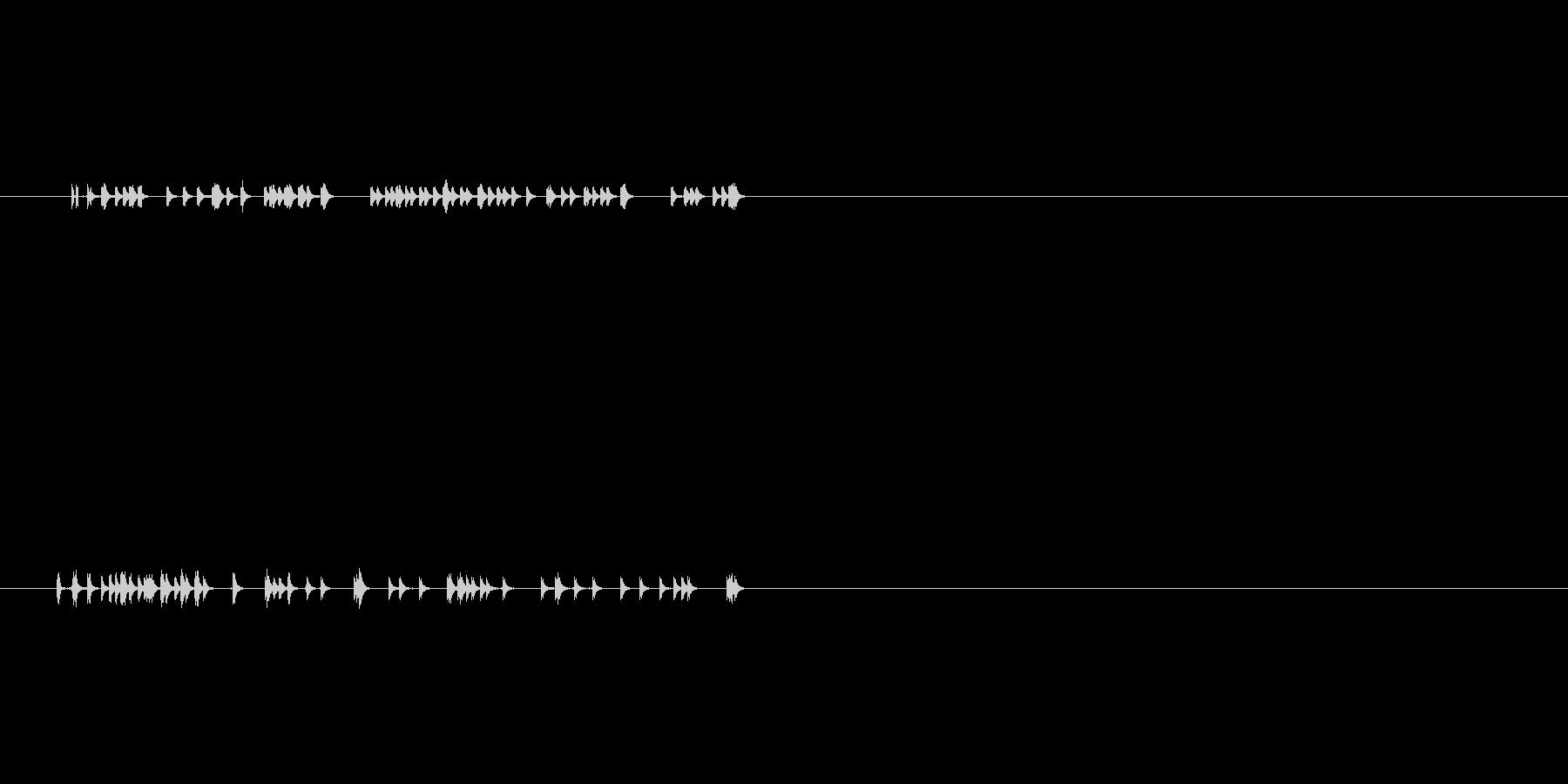 ゲーム、映像などに使える音ですの未再生の波形