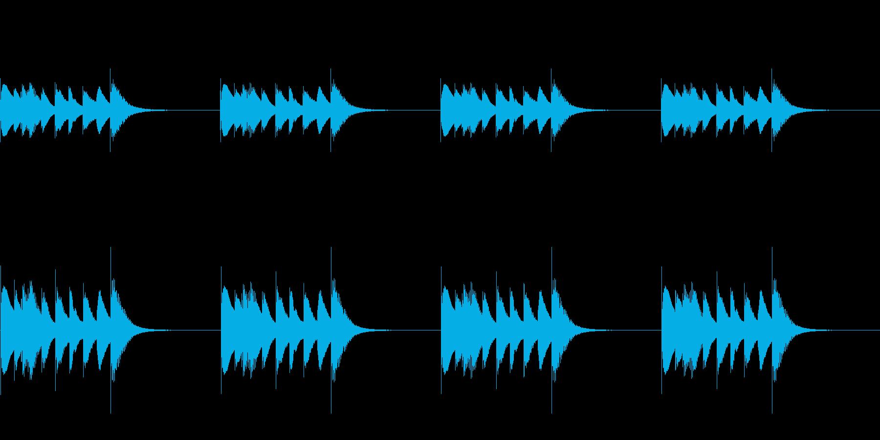 よく聴く着信音のパロディ_01_STの再生済みの波形