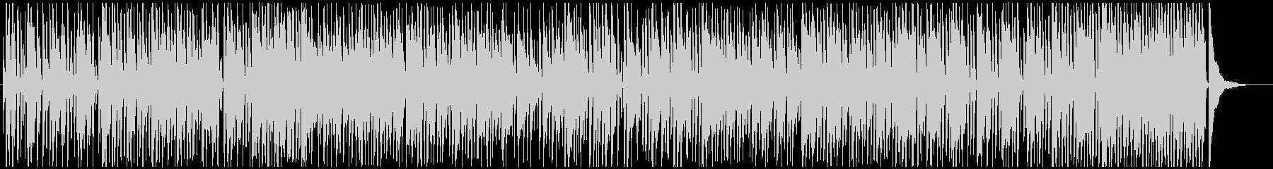 ピアノとサックスのお洒落なジャズの未再生の波形
