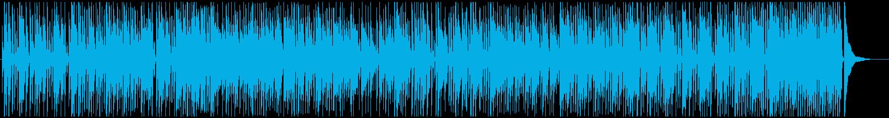 ピアノとサックスのお洒落なジャズの再生済みの波形