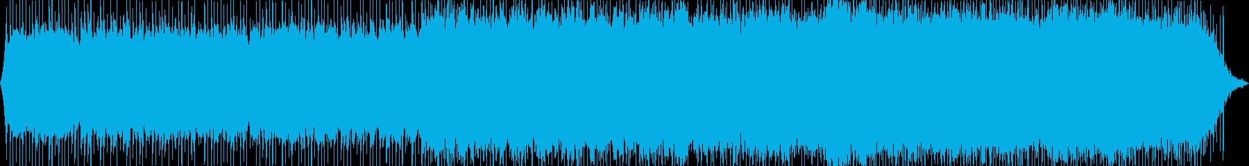 浮遊感のあるエレクトロチックな曲の再生済みの波形