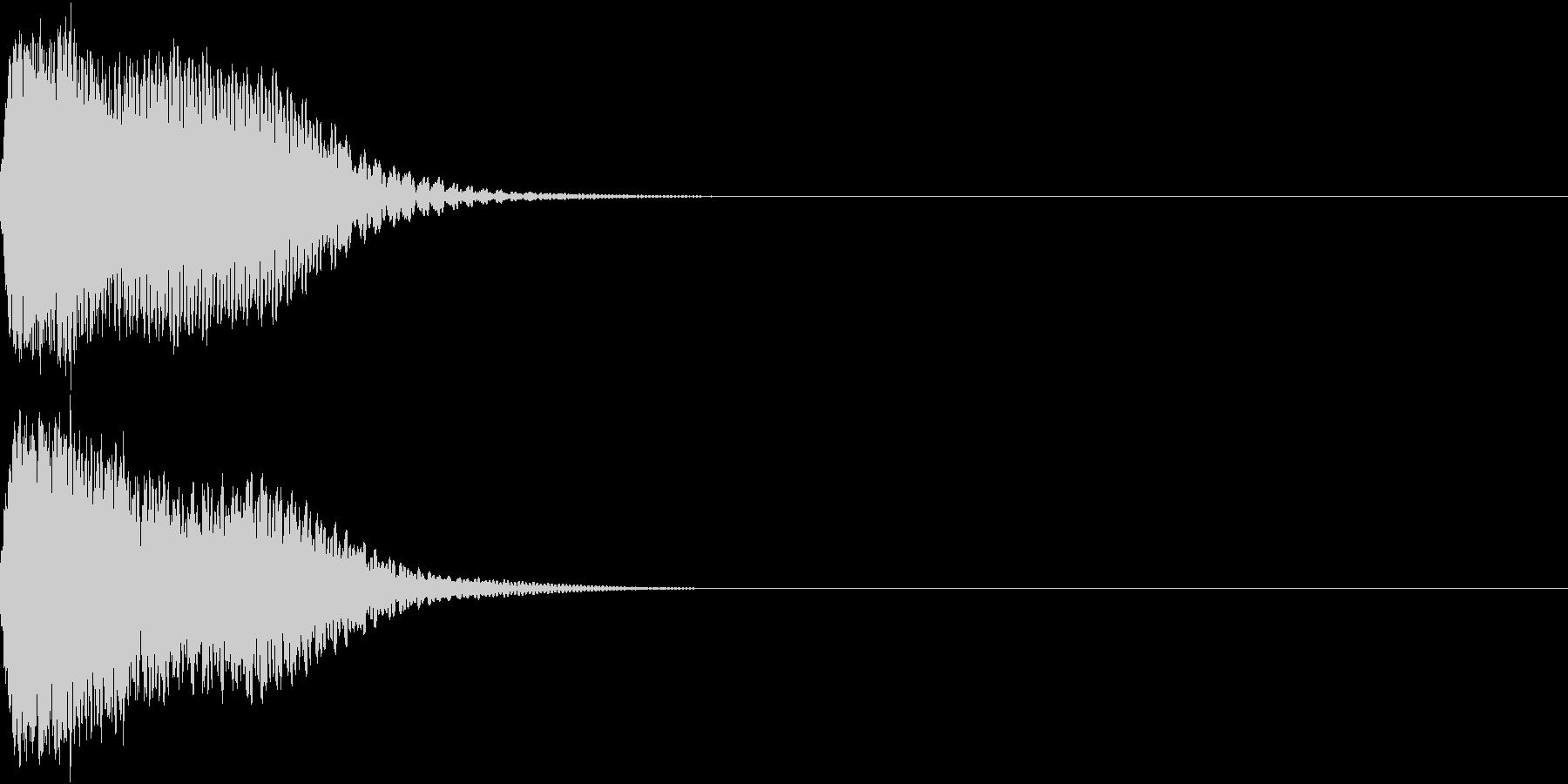 目立つ、カットイン、光る、キュイン01の未再生の波形