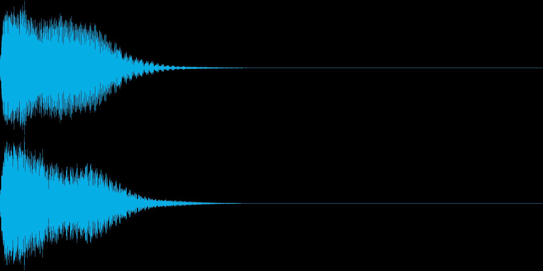 目立つ、カットイン、光る、キュイン01の再生済みの波形