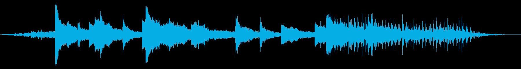 ゼロ確実性ミュージカルベッドの再生済みの波形